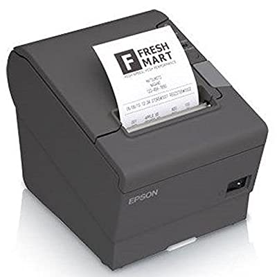 Epson C31CA85A9932 TM-T88V Thermal Receipt Printer, MPOS, USB and Serial Interfaces, With PS-180, Dark Gray