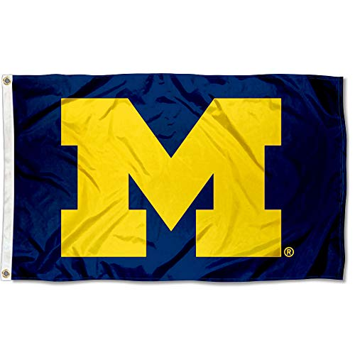 UM Michigan Wolverines University Large College Flag - Michigan Wolverines Banner