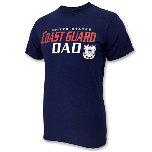 Coast Guard Military T-shirt - UNITED STATES COAST GUARD DAD T-SHIRT - XL, Navy