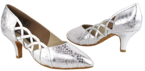 Very fine Shoes Ladies Standard & Smooth Competitive Dancer Series CD5501 Silver UQfZLDK