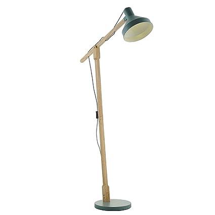 GJIF - Lámpara de pie Lámpara de pie Moderna de Madera ...
