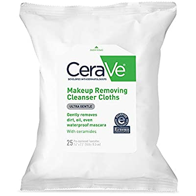 CeraVe Makeup Removing Cleanser Cloths | Makeup Wipes to Remove Dirt, Oil, & Waterproof Eye & Face Makeup | Fragrance…