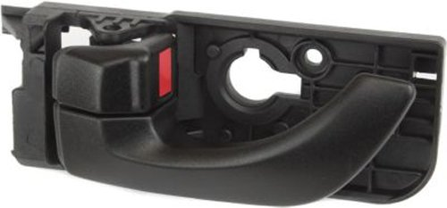 OE Replacement Rear Driver Side Black Interior Door Handle with Door Lock Button for Hyundai - REPH491588