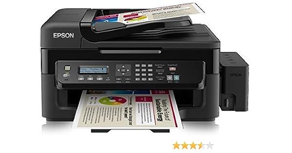 Epson EcoTank L555 - Impresora multifunción con inyección Color (A4, 9 ppm, USB, WiFi, fax)