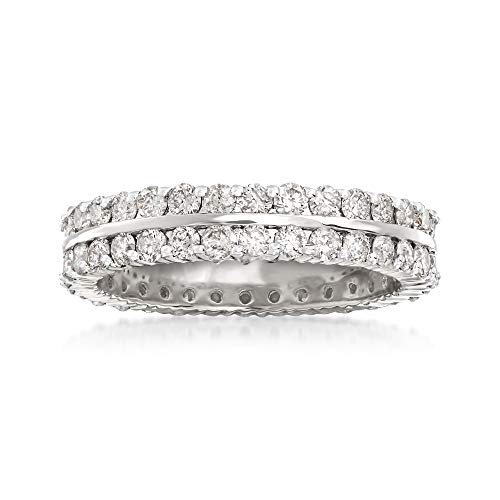 Ross-Simons 2.00 ct. t.w. Diamond Two-Row Eternity Band in 14kt White ()
