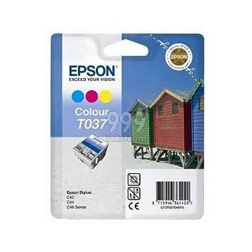 Epson T037 Color Cartucho de tinta Original (casetas de playa) (T037040): Amazon.es: Oficina y papelería