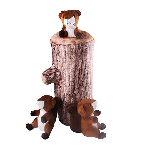 upc 611434206687 product image for IFOYO Squeak Dog Toys, Large Durable Squirrel Hide and Seek Puzzle Plush Interactive Dog Toys for Medium/Small Dogs, Pets, Halloween Christmas Dog Toy