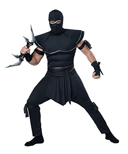 California Costumes Men's Stealth Ninja Costume, Black, Small (Ninja Costume Adults)
