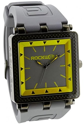 Rockwell Time CF White Watch, Leather/Rose Gold