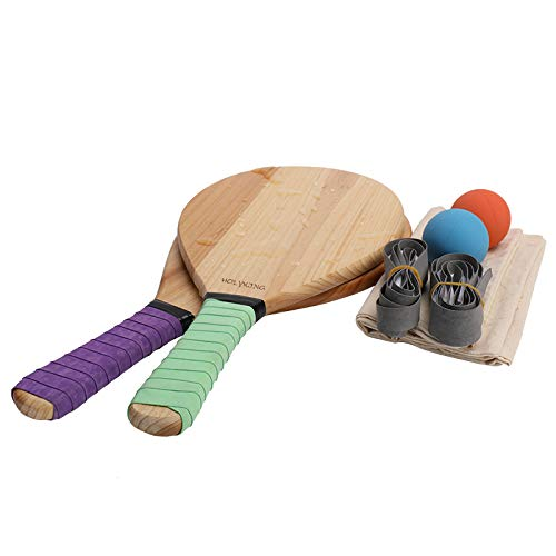 HOLYKING Beach Paddle Ball Set Outdoor Sport Games Flat Rackets Tennis Racquets