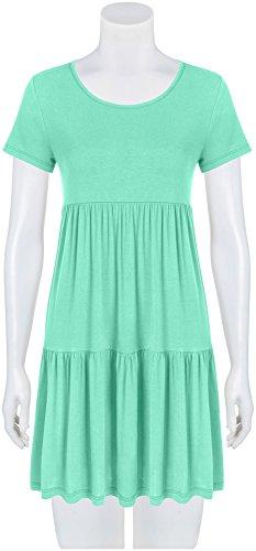 T USA Shirt Mint Sundress for Dresses Casual Summer Tiered Women SwqxW85v