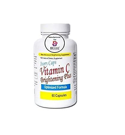 Ivory Caps Vitamina C Piel Brillo Además De Aligerar Las Píldoras Cápsulas 100% Natural No