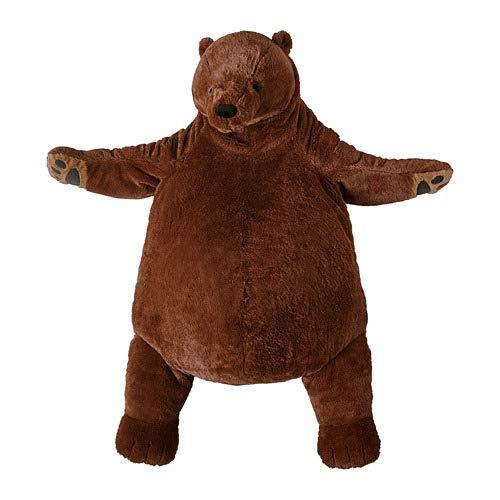IKEA ベアー 巨大 くま クマ ベアー ベア B07PRV47Y7 こげ茶 ぬいぐるみ クマ 人形 抱き枕 ソフトトイ DJUNGELSKOG B07PRV47Y7, MandA:20331763 --- grupocmq.com