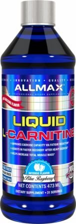 ALLMAX Nutrition Liquid L-Carnitine 1500 Blue Raspberry 16 oz 473 ()