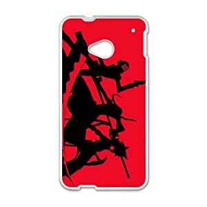 death the kid maka albarn and black star HTC One M7 Cell Phone Case White DIY Ornaments xxy002_3524068