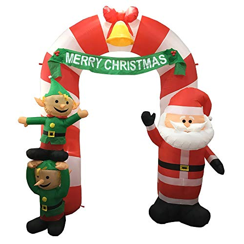 Outdoor Lighted Christmas Elves in US - 4
