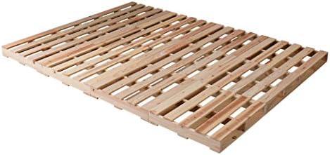 パレット パレットベッド ベッドフレーム ダブル 木製 杉 正方形 12枚 無塗装 DIY ローベッド
