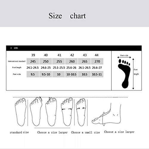 Hommes Casual Chaussures de sport pour hommes Chaussures de course Confortable Sneakers respirant léger (Color : Black-42) Black-39 w4gHd