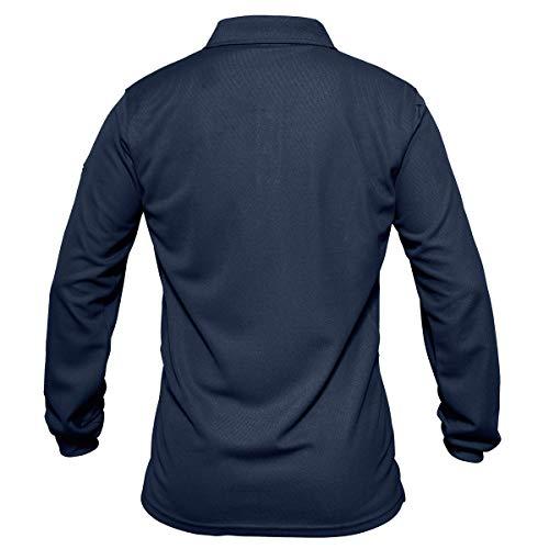 KEFITEVD Polo à manches longues pour homme avec poche zippée 2
