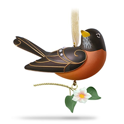 Hallmark Keepsake Christmas Ornament 2018 Year Dated, Beauty of Birds Robin ()