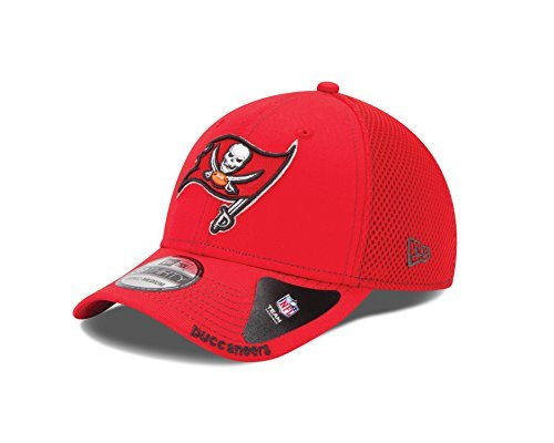 New Era Men's NFL Neo 39Thirty Flex Fit Cap, Red, Large/X-Large