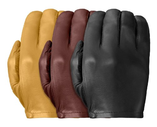 Tough Gloves Men's Ultra Thin Patrol-X Cabretta unlined leather gloves no points Size 8 Color Black