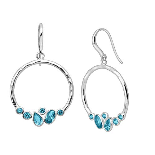 Silpada 'Blue Valley' Natural Aquamarine Drop Earrings in Sterling Silver