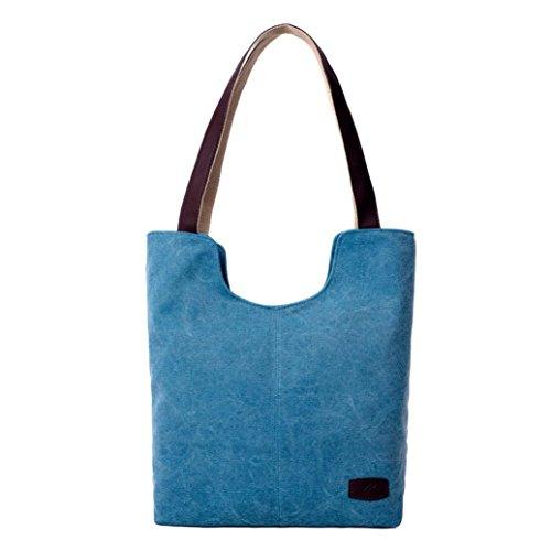Niña Lona ESAILQ Azul Bolsos Claro Hombro K Shoppers para Grande de de Bandolera y Gris Baratos Mujer ZtOOxXrq