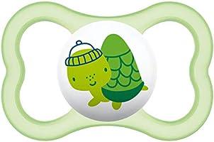 MAM - Juego de 2 chupetes de silicona en caja esterilización, 18 meses – colores aleatorios: Amazon.es: Bebé
