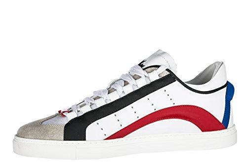 Dsquared2 Scarpe Da Uomo Sneakers In Pelle Da Uomo 551 Bianche