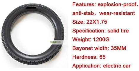 Electric Scooter Tires, 22 Inch Non-inflatable Solid Tires, 22x1.75 Explosion-proof Wear-resistant Anti-skid Maintenance-free Electric Scooter Tire Accessories