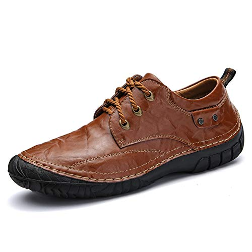 - BE-MY-GUEST Leather Shoes Mens Loafers Breathable Outdoor Shoes Walking Men Waterproof Big Size 38-44,6819zong,7