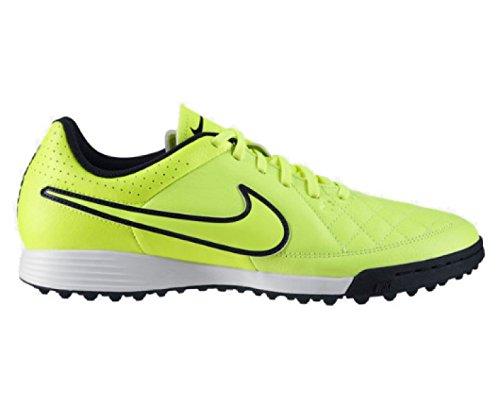Nike Tiempo Genio Cuir Tf Mens Astroturf Démarrage Volt / Hyper Punch / Noir