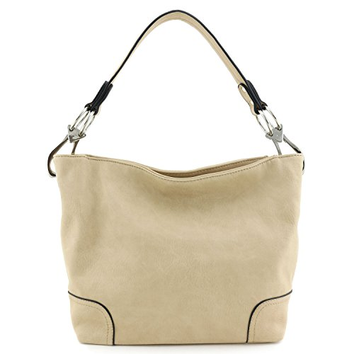Shoulder Hobo Hook with Snap Big Bag Nude Hardware rrqSdw4Cx