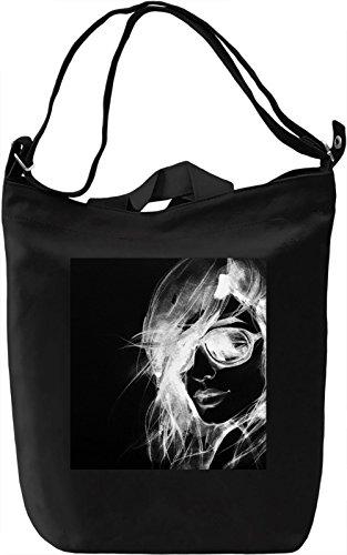 Woman With Sunglasses Borsa Giornaliera Canvas Canvas Day Bag| 100% Premium Cotton Canvas| DTG Printing|