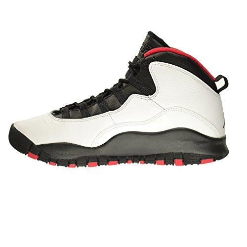 Nike Air Jordan 10 Retro Big Kids Estilo Blanco / Negro-verdadero Rojo