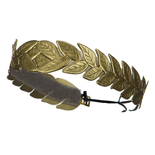 [Roman Laurel Leaf Costume Headband Gold] (Trojan Man Costumes)