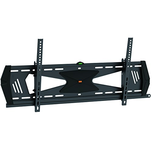 StarTech.com Low Profile TV Mount - Tilting - Black - Anti-Theft TV Wall Mount 37in to 75in TV - VESA Wall Mount - Monitor Mount