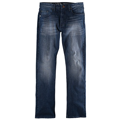 Emerica Mens Pure Straight Denim Pants 32x32 Medium Vintage Wash