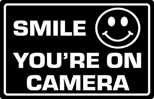 - Supply360 Premium Smile Your On Camera Sign, 2.25