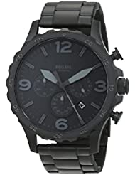Fossil Mens JR1401 Nate Stainless Steel Watch with Link Bracelet