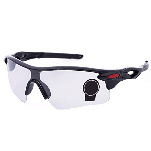 Eyewear Sunglasses UV Protection Riding Glasses Eye Gear Protecor for Cycling Bicycle Bike Outdoor Sports #04 Black frame+transparent - Riding For Glasses Bike