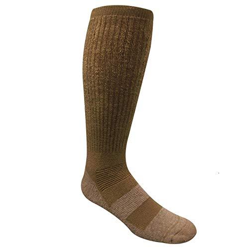 Covert Threads Desert Climate Military Boot Socks, Brown, Large