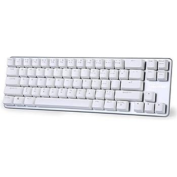 Qisan Mechanical Keyboard Gaming Keyboard Brown Switch 68-Keys Mini Design (60%) Gaming Wired Keyboard White Silver Magicforce