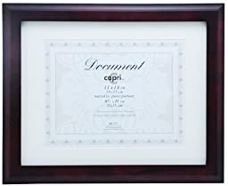 Kiera Grace Oxford Wood Document Frame, 11 by 14 Inch, Matted To 8.5 by 11 Inch, Espresso