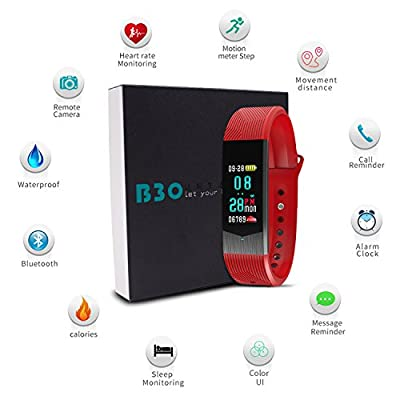 BOZLUN Fitness Tracker Activities Tracker Waterproof Smart Watch for Android iPhones Smartwatch Smartband with Heart Rate and Blood Pressure Monitor Sleep Tracker Pedometer Watch