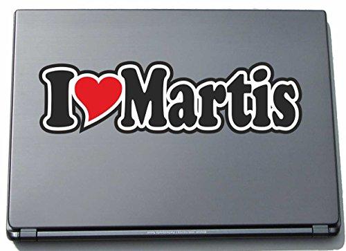 INDIGOS UG - I Love Heart Decal Sticker Laptopskin 210 mm - Ich Liebe - I Love Martis - Laptop Netbook Computer - Sticker with Name of Man Woman -