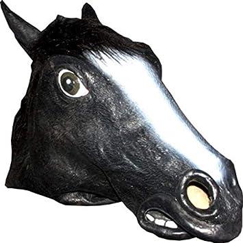 Horror-Shop Máscara animal caballo negro