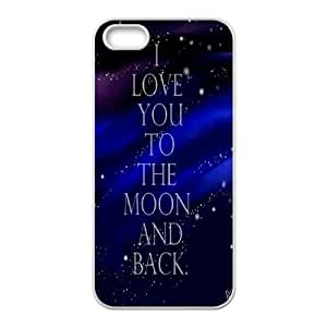custom iphone5,iphone5s Case, I love you to the moon and back shell case for iphone5,iphone5s at Jipic (style 3)