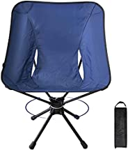 Camping Chairs Portable Foldable Lightweight Compact Outdoor Beach Chair 360 Degree Rotatable Aluminum Alloy F